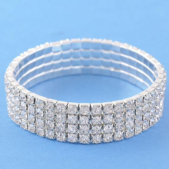 Silver Plated Cz Bracelet Never Worn Still In Bag