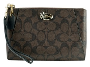 Coach F65060 Wristlet in Brown/Black