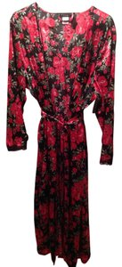 PINK Black Satin Robe