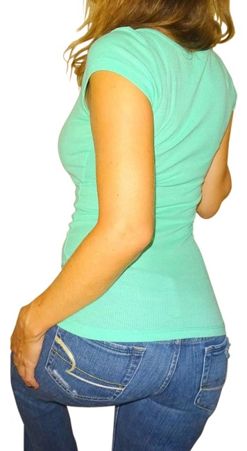 Color story mint seafoam green sexy tee shirt size 4 s for Mint color t shirt