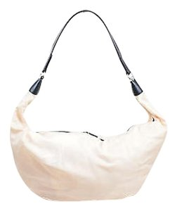 The Row Black Nylon Hobo Bag