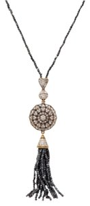 Grand Bazaar - New York Pyrite & CZ Sunburst Tassel Pendant Necklace