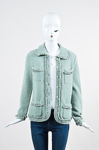 Escada Mint Wool Green Jacket