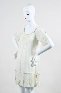 Rebecca Taylor short dress Cream Sheer on Tradesy