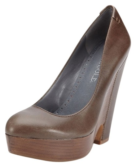 Rosegold Shoes Brown Wedges