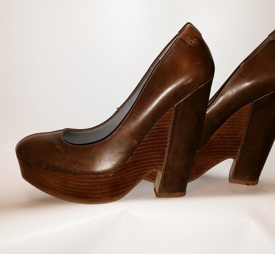 Rosegold Shoes Brown Wedges Image 1