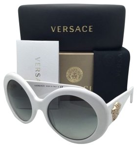 Versace New VERSACE Sunglasses VE 4298 404/11 55-20 White & Gold Frames w/ Gray Gradient Lenses