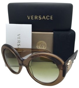 Versace New VERSACE Sunglasses VE 4298 617/8E 55-20 Transparent Brown Frame w/Green Gradient Lenses