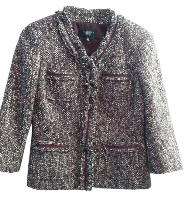 Item - Burgundy Grey Multi XS Petite Jacket Size 2 (XS)