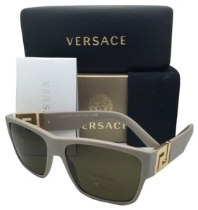 Versace New VERSACE Sunglasses VE 4296 5146/73 59-16 Sand Beige & Gold Frames w/ Brown Lenses