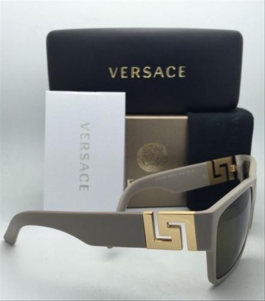 3b3fccffec Versace Ve 4296 5146 73 Sand Beige   Gold Frames W  Brown New 5146 73 59-16  W  Lenses Sunglasses - Tradesy