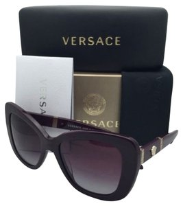 Versace New VERSACE Sunglasses VE 4305-Q 5066/4Q Eggplant Purple & Gold Frame w/ Violet Gradient Lenses