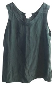 Saks Fifth Avenue Vintage Silk Sleeveless 5th Top Black