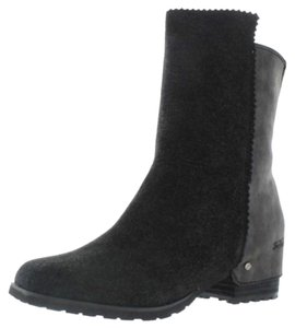 Von Dutch Leather Bootie Black Boots