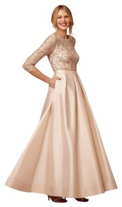 Aidan Mattox Bridesmaid Sequin Beaded Ball Gown A-line Dress