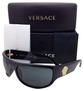 Versace New VERSACE Sunglasses VE 4276 GB1/87 63-18 Black Frame w/ Gray Lenses