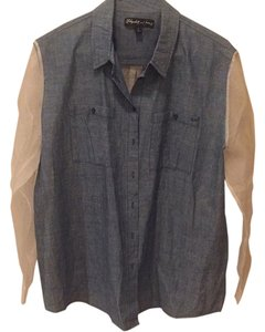 Elizabeth and James Button Down Shirt Denim