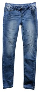 Blue Asphalt Skinny Jeans-Light Wash