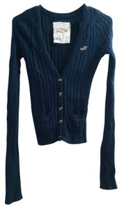Hollister Cabled Sweater Blue Cables Longsleeve Hco Cardigan