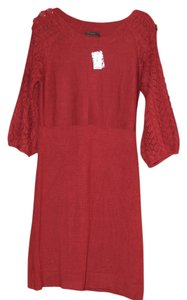 The Limited short dress Red Button Crochet Sweater on Tradesy