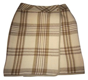 Liz Claiborne Skirt Brown/Creme