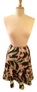 Huminska Skirt Brown, Pink and Green Floral