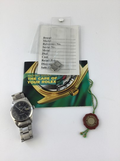 Rolex Rolex oyster watch black stick dial datejust rolex