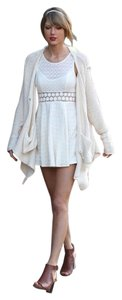 Free People short dress Ivory Sold Out Taylor Swift Fit N Flare Mini on Tradesy