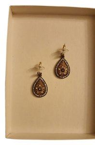 & Other Stories Two tone large pear drop earrings