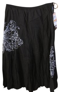 Style & Co Maxi Skirt Black & White