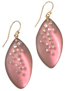 Alexis Bittar Lucite & Crystal Dust Leafe Drop Earrings