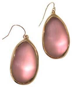 Alexis Bittar Baroque Oval Gold Lucite Drop Earrings