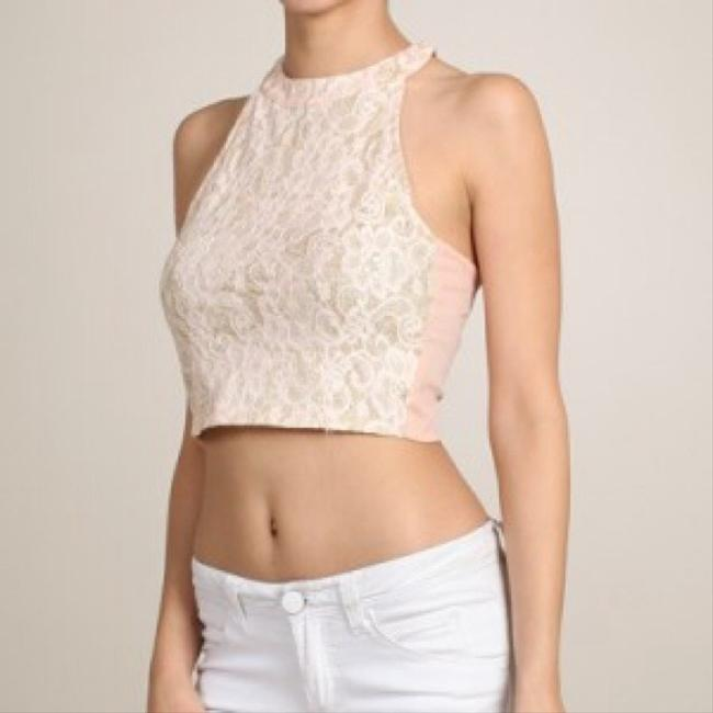 Other Crop Lace Peach Halter Top