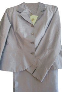 Paule Vasseur RAW SILK PANTSUIT with beautiful BUTTONS