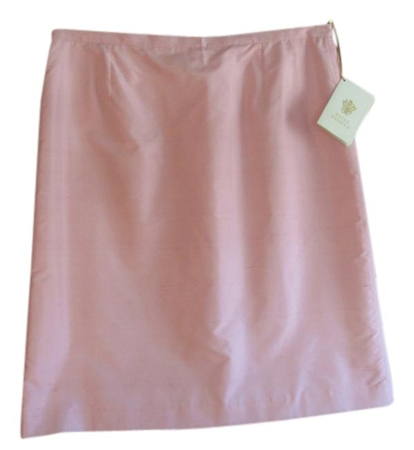 Pink French Designer Pencil Of Silk Skirt Size 16 (XL, Plus 0x) Pink French Designer Pencil Of Silk Skirt Size 16 (XL, Plus 0x) Image 1
