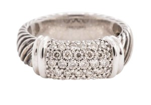 David Yurman Authentic David Yurman Pave Diamond Metro Ring- Rarely Worn