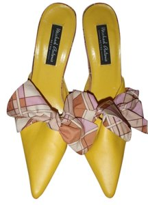 Michael Antonio High Heel Size 8 1/2 Wedge Yellow Formal