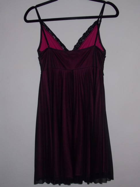 Charlotte Russe Polyester Lace Lace Trim Embellished Pleated V-neck Beaded Empire Waist Dress