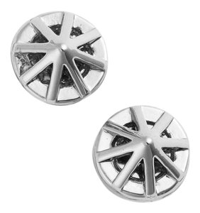 Rebecca Minkoff NEW Petite Caged Button Stud Earrings, Rhodium
