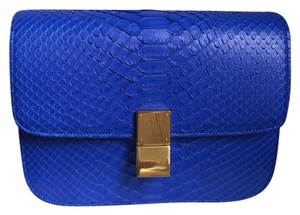 Céline Celine Python Box Shoulder Bag