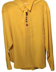 Anne Pinkerton Button Down Shirt Yellow