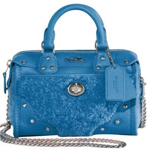 Coach Satchel in Peacock Blue