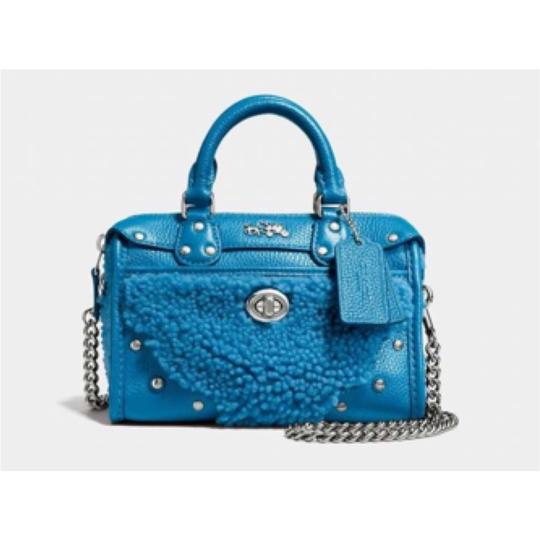 Coach Satchel in Peacock Blue Image 1