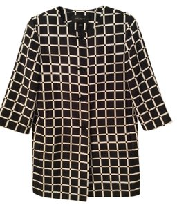 Ann Taylor Windowpane Black and White Jacket