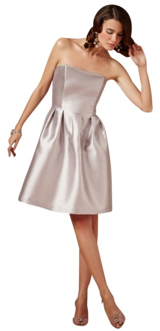 Item - Silvery Grey In Bag Bridesmaids Or Just Because In Above Knee Formal Dress Size 8 (M)