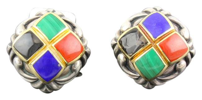 Asch Grossbardt * 18k Yellow Gold and Sterling Silver Multiple Stone Inlay Asch Grossbardt * 18k Yellow Gold and Sterling Silver Multiple Stone Inlay Image 1