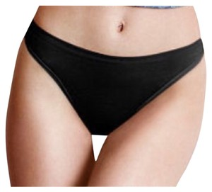 Victoria's Secret Victoria's Secret Cotton Lingerie Thong Panty BLACK MEDIUM NEW