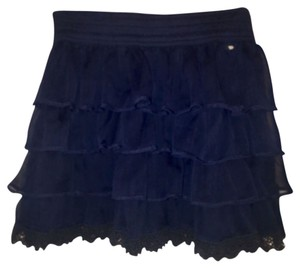 Gilly Hicks Mini Skirt Navy Blue