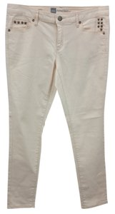 Mossimo Supply Co. Stretchy Apricot Cotton Skinny Pants VERY LIGHT ORANGE