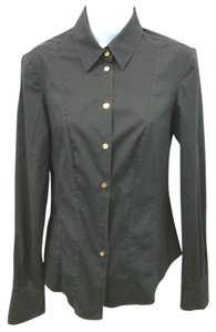 Roberto Cavalli Stretchy Shirt Blouse Button Down Shirt BLACK